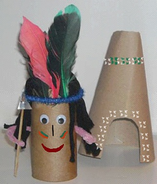 Kama: Zabawy plastyczne z dziećmi: indiańska wioska - część I ...